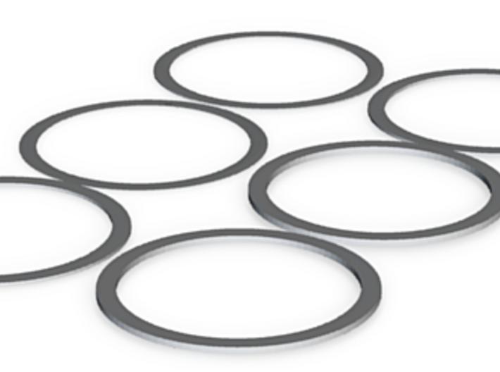 Plastic Barrel Nut Spacers 3d printed