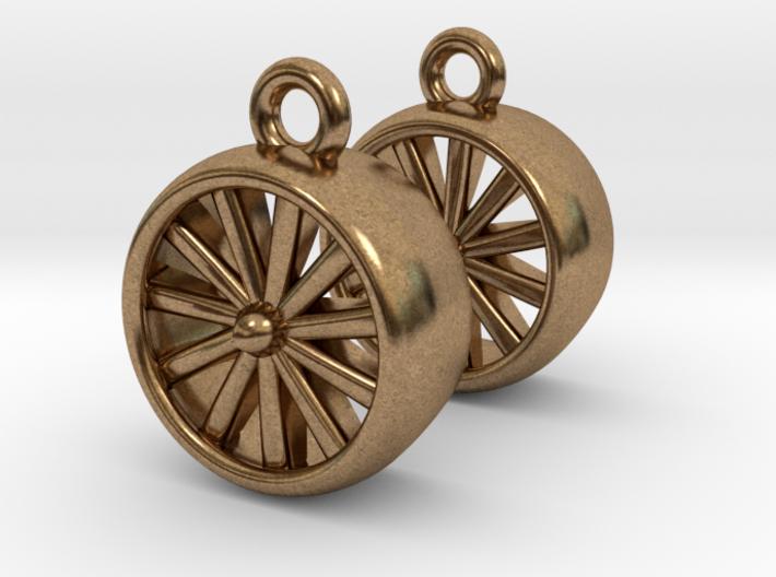 Jet Engine Earrings 3d printed