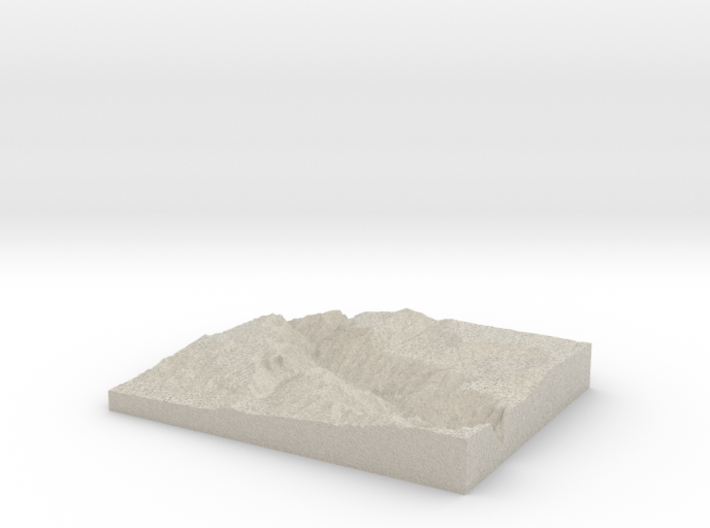 Model of Red Rock Canyon 3d printed