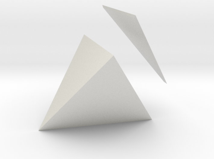 Tetracedron Planus Solidus 3d printed
