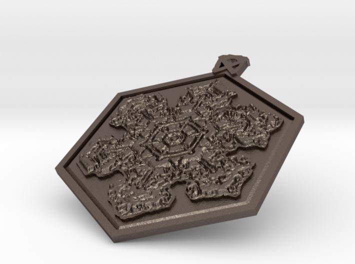 Frozen Hex Star Pendant 3d printed