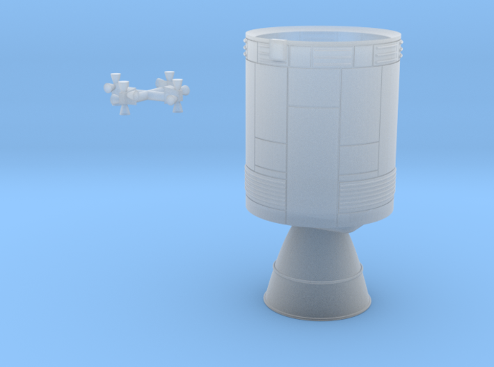 Apollo Service Module, Block II 1/200 scale 3d printed