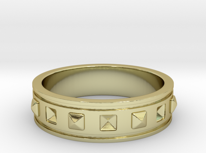 Ring with Studs 3d printed
