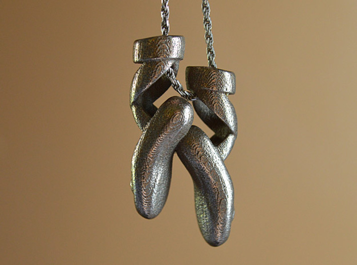 Dance Ballet Slippers Necklace 3d printed