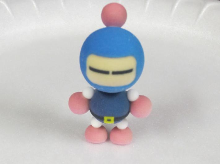 Blue 3d printed