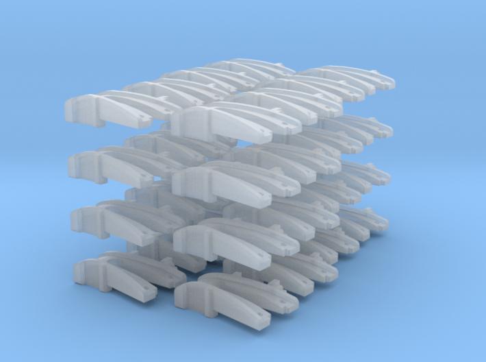 32 No. Re-Railers Type 1 Hanging N Scale 1:160 3d printed