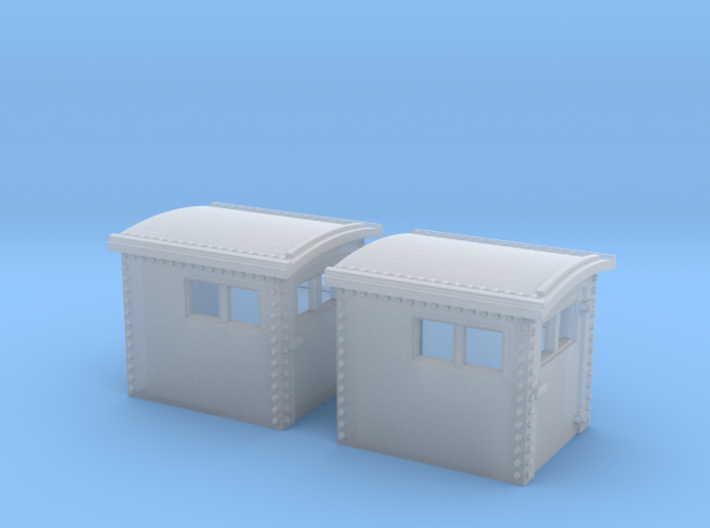 2x N&W Style Dog House N Scale 1:160 3d printed