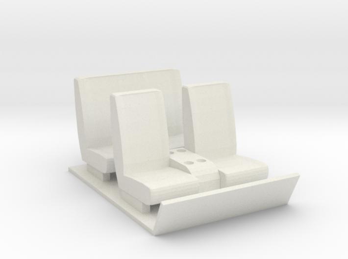 Gmc 5500 interior (Crew Cab) 3d printed