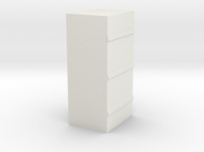 Cab Signal Box- 3 Strap-HO 3d printed
