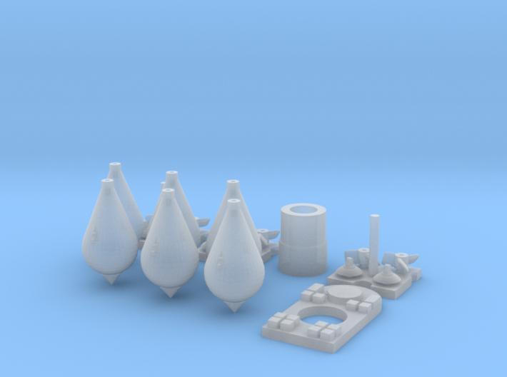 1/32 Carbonit 20kg Kit (6 off) 3d printed