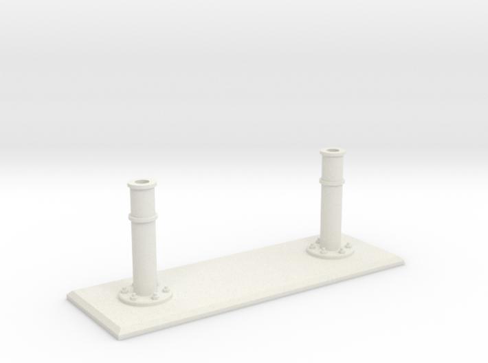 Rails base small 3d printed