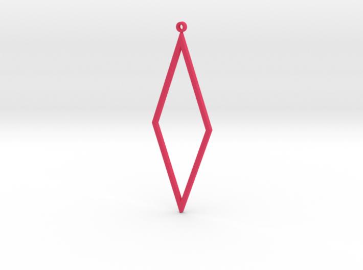 Rhombus Earrings 3d printed