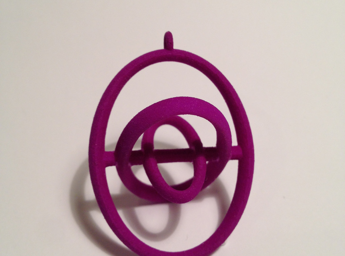 Saturn Rings Pandant 3d printed Hot Pink Strong & Flexible Polish