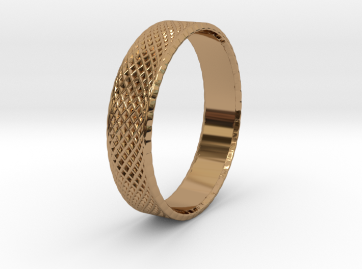 0099 Lissajous Figure Ring (Size9, 19.0mm) #001 3d printed