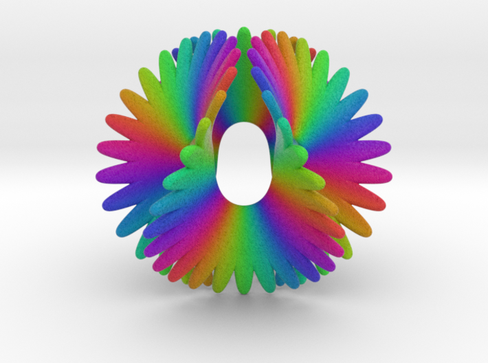 Enneper Rainbow Flower 3d printed