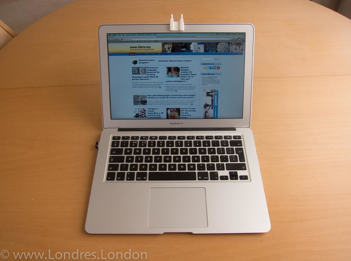 macbook air webcam cover Battersea power station 3d printed macbook air webcam cover