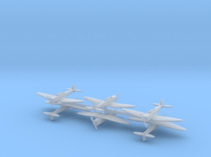 Heinkel He 70E Blitz (6 Airplanes) 1/700 3d printed