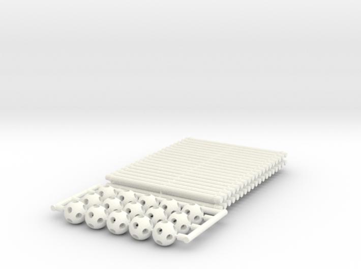 'Sprued' Vector Equilibrium #white 3d printed