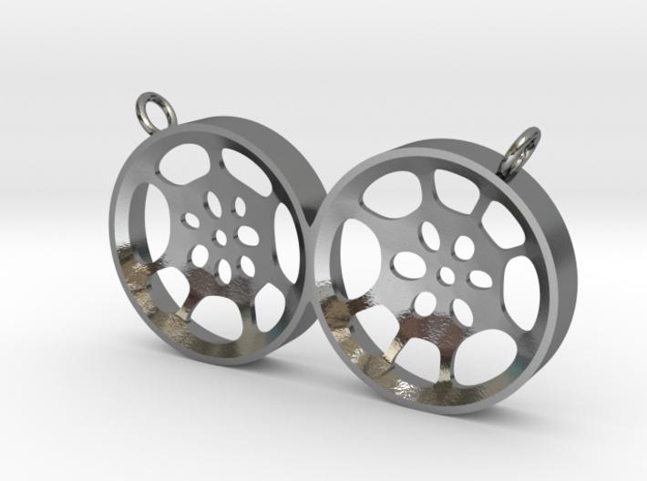 "Double Tenor ""void"" steelpan pendant, L 3d printed"