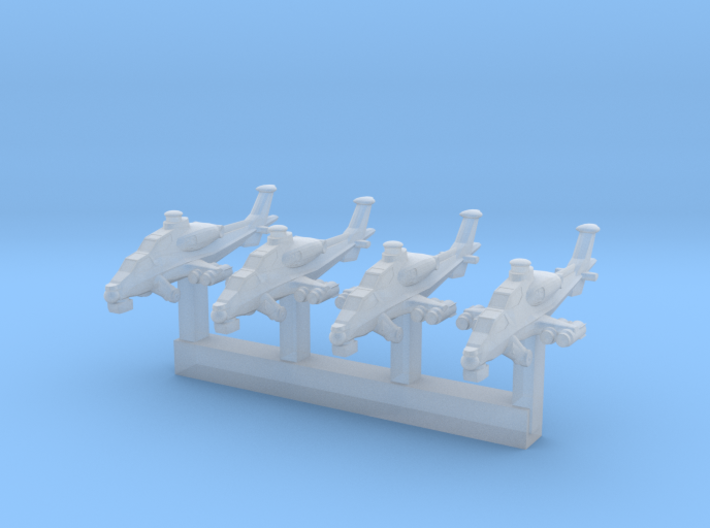 1/1200 Chinese WZ 10 Attack Helicopter 3d printed