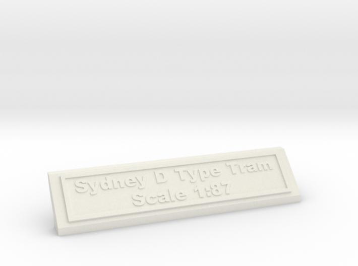 Base Nameplate HO Sydney D 3d printed