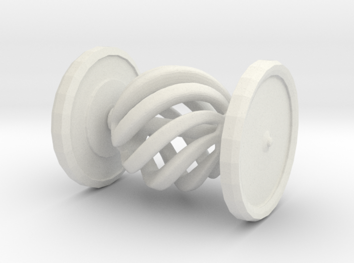 Shapeways Spinning Spiral Hypnosis Car 3d printed Spiral Sphere Turns | It's Just Nuts!