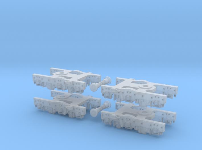 Baldwin DT6-6-2000 Dummy Trucks X4 N Scale 1:160 3d printed