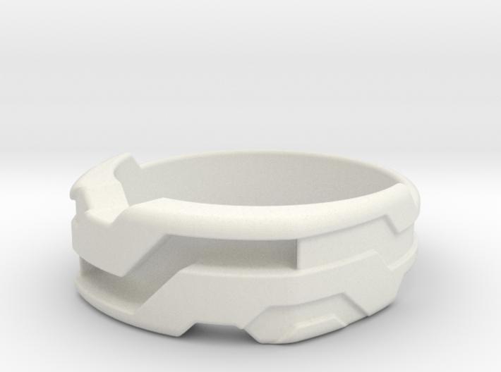 US14 Ring XXI: Tritium (Silver) 3d printed