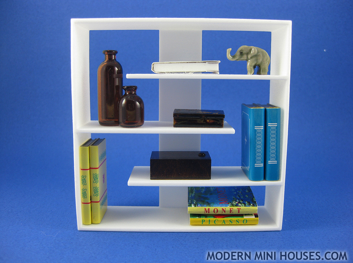 Efficient 1:12 scale Bookshelf 3d printed