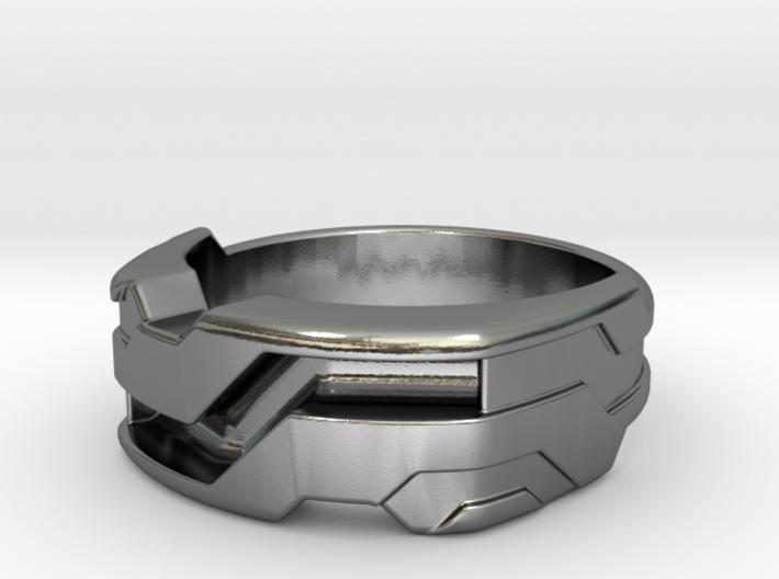 US11.5 Ring XXI: Tritium (Silver) 3d printed