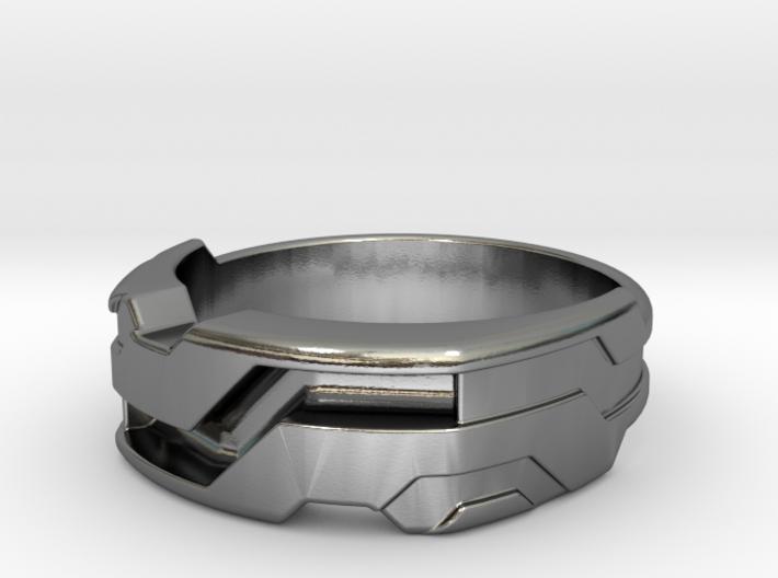 US14.5 Ring XXI: Tritium (Silver) 3d printed