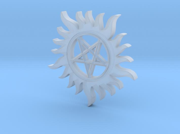 Supernatural inspired pendant 3d printed