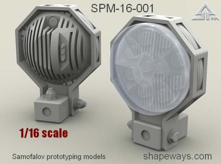1/16 SPM-16-001 Truck LED Headlights 3d printed