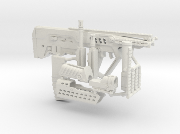 1:6 Tactical 21 Bullpup Rifle SF version 3d printed