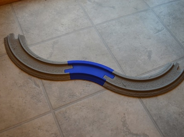 Geotrack 45 Deg Curve V2.0 3d printed Version 1.0,with Geotrax