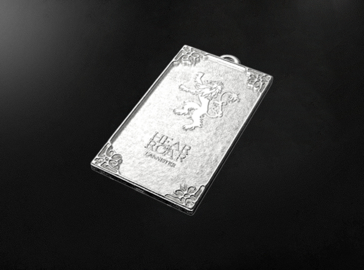 Game of Thrones - Lannister Pendant 3d printed