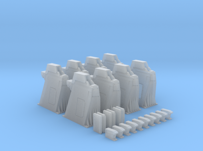 1/144 - Holddown Arms LC-34 (8x mixed) 3d printed