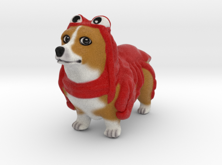 Lobster Corgi 3d printed