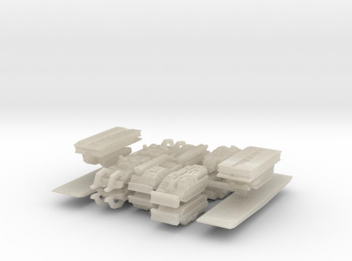 3mm Leopard 2 Pioneer Vehicles (16pcs) 3d printed