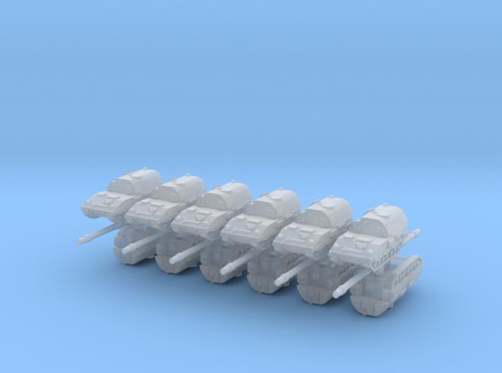 3mm PzH 2000 SP Artillery Pieces (12pcs) 3d printed
