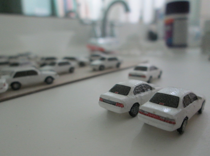 n scale 1993-1997 toyota corolla 5 pack 3d printed left: pre facelift right: facelift