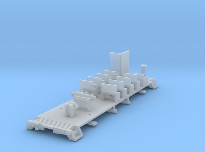 HOn3 30ft combine chassis 3d printed