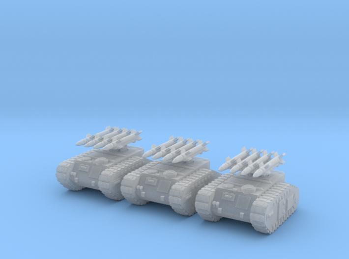 6mm Dieselpunk Mk.H Rocket Battery 3d printed