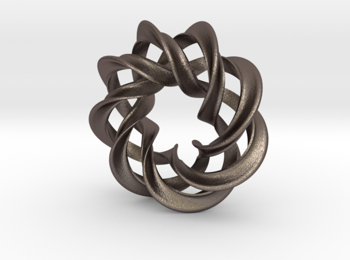 3 strand mobius spiral NO ball - Pendant 3d printed