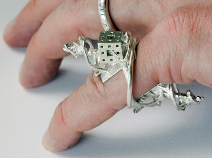 Cosmographic Overdose - Finger Ornament 16mm 3d printed