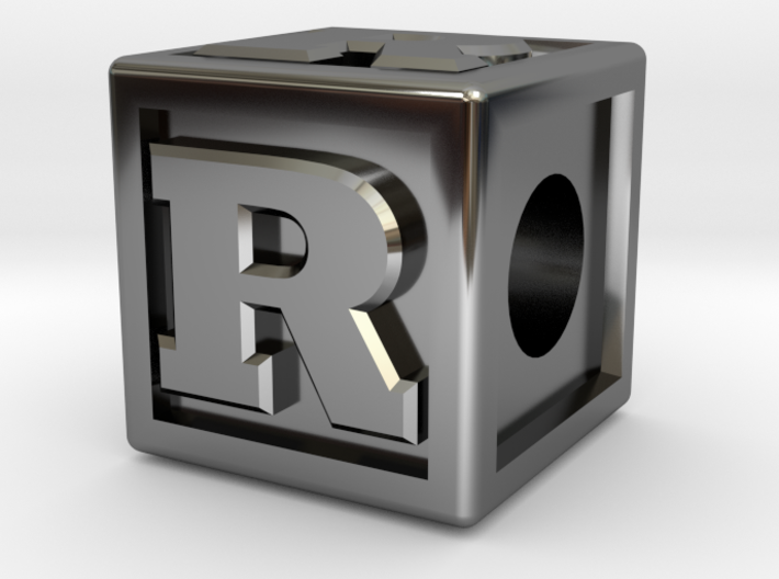 "Name Pieces; Letter ""R"" 3d printed"