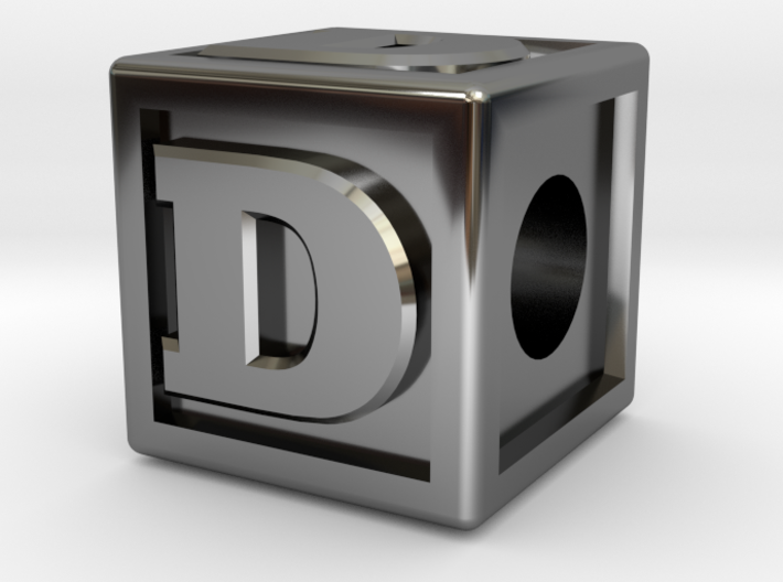 "Name Pieces; Letter ""D"" 3d printed"