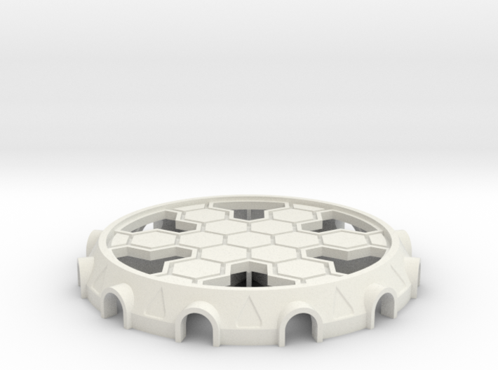 Cooling Tower Bottom Base 3d printed