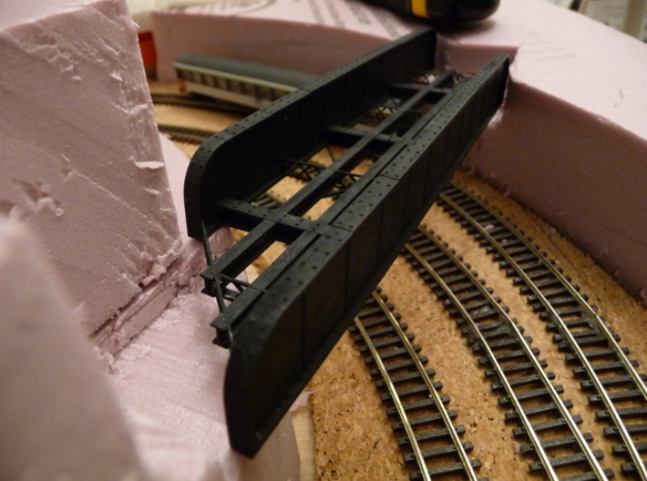 n-scale bridge mono track left 3d printed