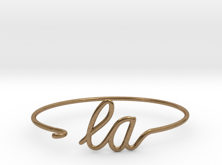 LA Wire Bracelet (Los Angeles) 3d printed